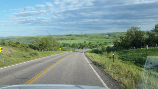 Open Road in South Dakota.