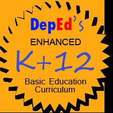 A signage/ logo showing the Philippine K to 12 Educational Reform implementation.