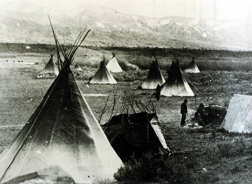 Native Americans in Pocatello in the 1880s. Today they grow potatoes.