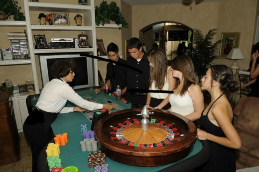 Me dealing Roulette at one of the many gigs I've dealt in my life. :)