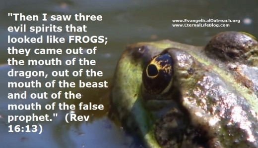 "Three frog-like demonic ""miracle"" workers."