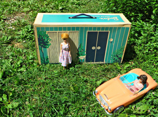 Built or very hard and durable cardboard, the 1962 Barbie Dream-house was built to last a girls childhood.