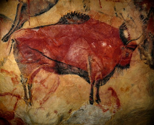 Reproduction of a bison of the cave of Altamira.