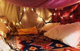 Super cool blanket fort