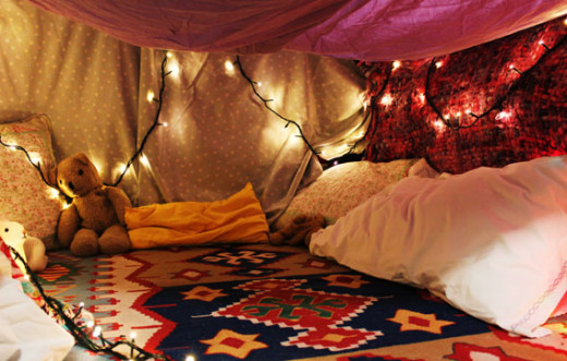 Super cool blanket fort