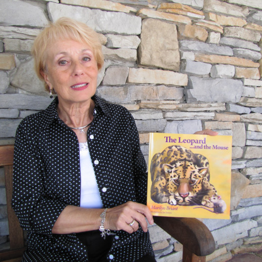 Marilyn with her children's book