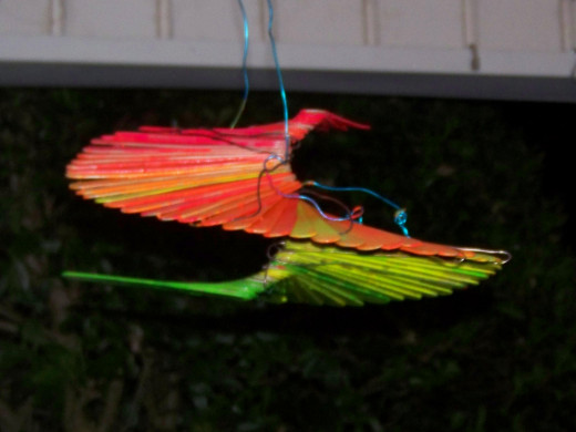 Garden windspinner made from popsicle sticks-the jumbo size.