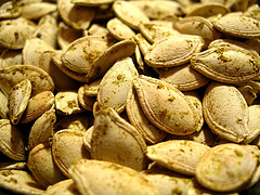 Mm! Mm! Nothing beats roasted pumpkin seeds!
