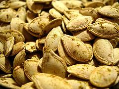 Mm! Mm! Nothing beats roasted pumpkin seeds!