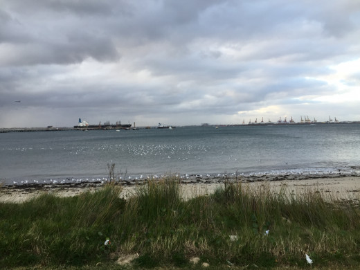 View from a beach in Kurnell