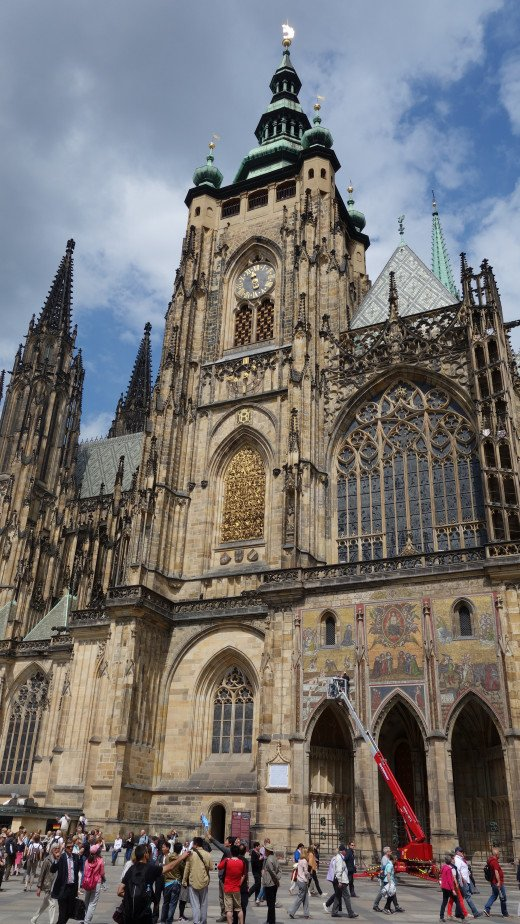 Image of the Entrance of St. Vitus Cathedral. Prague, Czech Republic