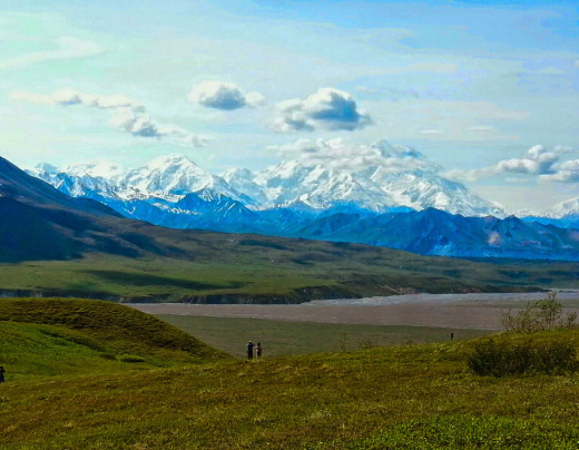 Denali, originally named Mt. McKinley by early white settlers, is said to be the earth's most steeply rising land mountain.