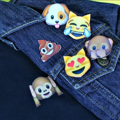 Emoji Polo Shirt and Pins DIY