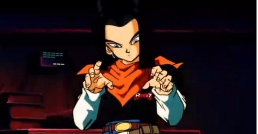 Android 17 and his Pete Wentz look