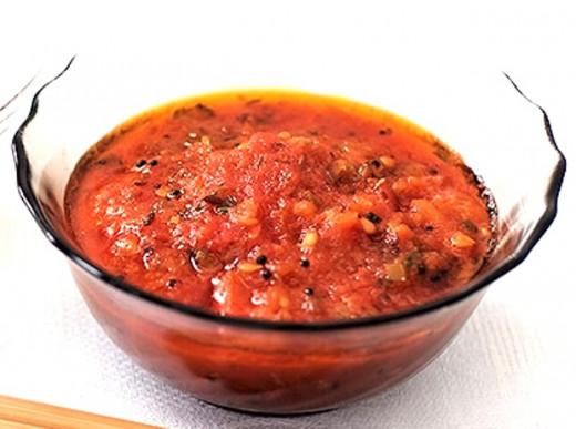 Tomato Chutney is served