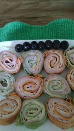 Tempting Pinwheels Quick and Easy~~~a Healthy Dish to Serve Anytime