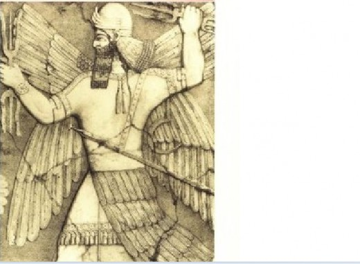 The Mythological king Gilgamesh (possibly Nimrod of the Bible story)