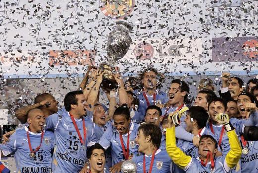 Uruguay Champions of Copa America 2011
