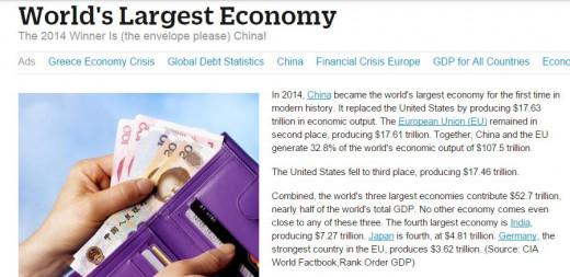 1. China 2. European Union 3. United States