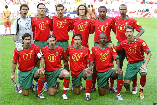 Portugal National team of 2004