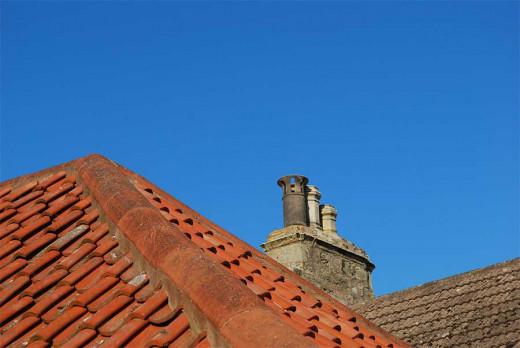 Chimney pots are blue sky wonders.