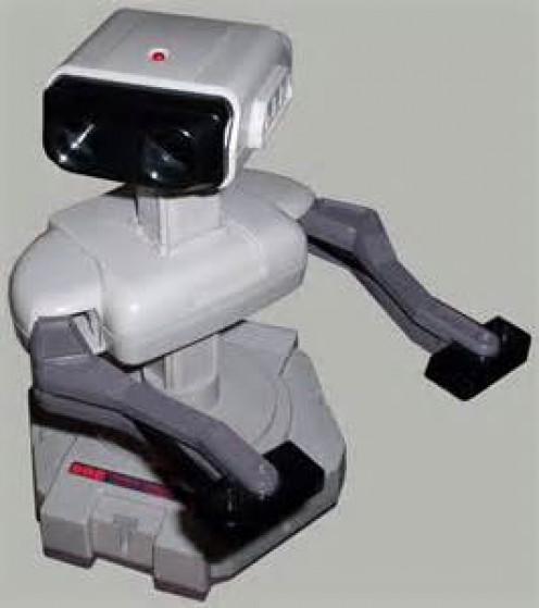 Nintendo originally packaged its console with this robot. This robot was very limited but it was also the first ever video game robot.