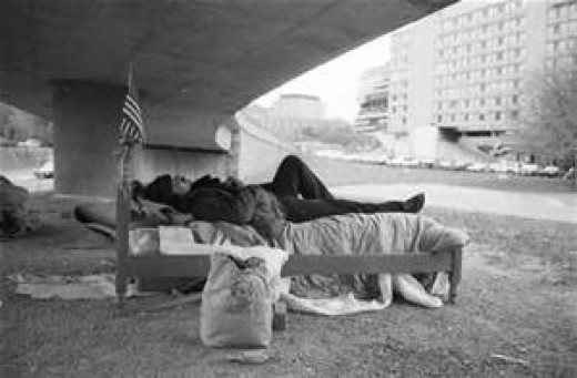 Living homeless is a hard challenge to overcome.