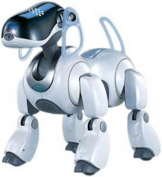 Many robot dog toys have been released in the 2000's and some can bark, walk, sit and even roll over.
