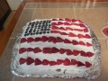 Patriotic Flag Cake