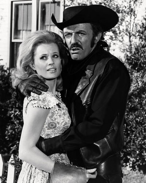Opposites attract!! John Astin as Evil Roy Slade, the meanest man in the West, who loves pretty Betsy, (Pamela Austin) the nicest girl in the West!