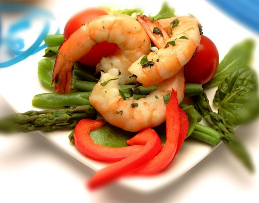Shrimp and Prawns are the perfect entree in many ways - light, low fat, low calorie, tasty and does not ruin your appetite.