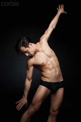 This is a young male dancer who has to work at staying in shape.