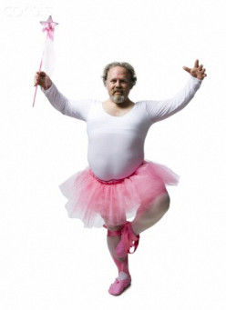Now this obese guy in a tutu makes me think of how I would look on stage.