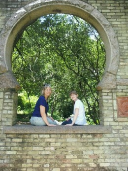 Zilker Park in Austin.  So many different genres of gardens. The Butler Window is from the home of brick manufacturer Michael Butler. The unusual key-shaped window was the focal point of the house built in 1887 and contains granite.