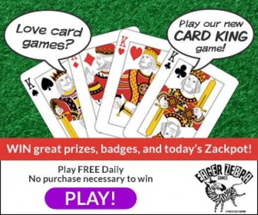 Play Card King At Triple Clicks allay Free Twice a Day. win Prizes and cash.