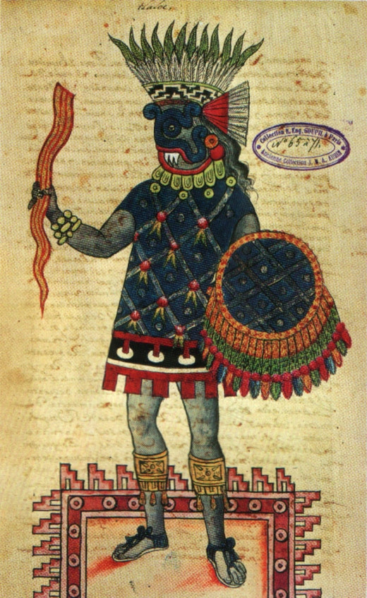Another picture of the god of rain and fertility, Tlaloc
