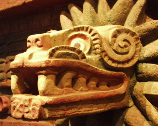 In both Aztec and Mayan society, the people worshiped a feathered serpent god (of different names).