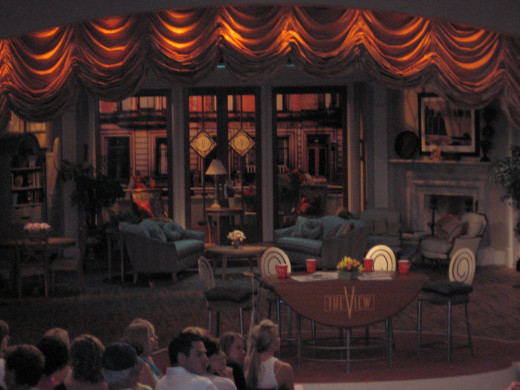 "A view of the stage at ""The View""."