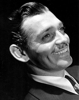 Clark Gable - 'the King'  with moustache.