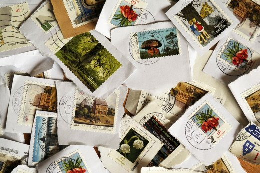 Between the blank pages of a small hardcover notebook you find the perfect place to stash loose bits of pretty paper: cancelled stamps, a ticket stub from a memorable date, a hopeful message from a fortune cookie!