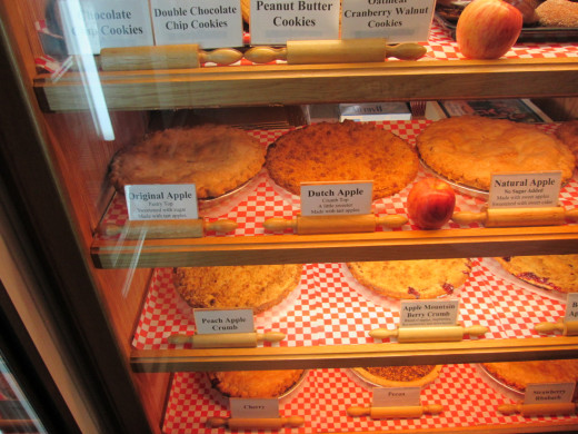 Inside the Julian Pie Company.