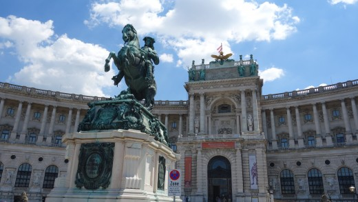 Josephsplatz, part of Hofburg Palace, features a stunning statue of Emperor Joseph II.