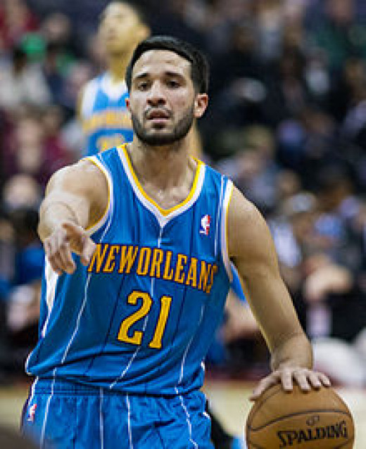 Greivis Vasquez playing for the New Orleans Hornets