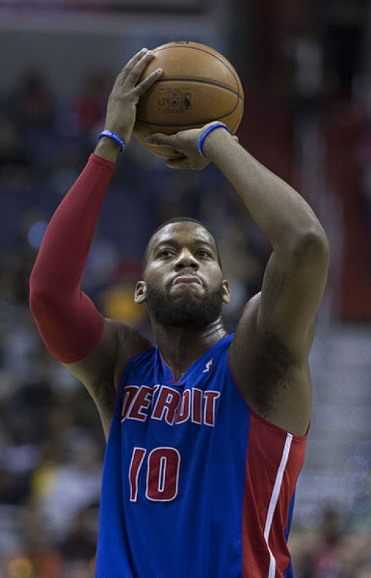 Greg Monroe when playing for Detroit Pistons in 2014