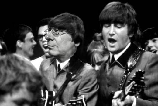 Famous musician John Lennon and not-so-famous musician Colin Garrow