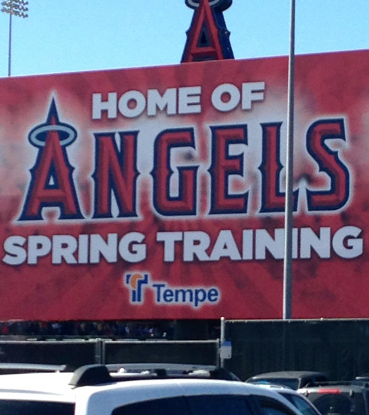 Ah, there's nothing better than seeing the Angels in Tempe, AZ.