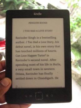 A Kindle e-Reader