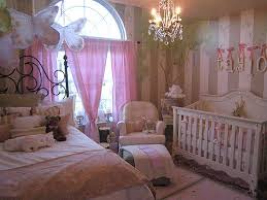 Making your room match up with baby's colour scheme is one idea