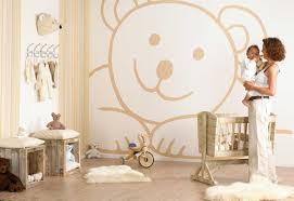Stickers or wallpaper can look fantastic for a baby's room
