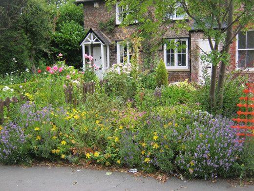 Cottage gardens on Main Street, Bishopthorpe next to the old Post Office